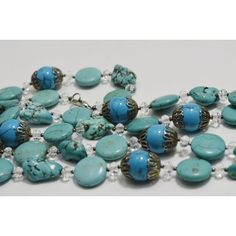 Long Turquoise Jewelry Statement Necklace, Fashion Beaded Necklace,... (£22) ❤ liked on Polyvore featuring jewelry, necklaces, turquoise jewelry, christmas necklace, long turquoise necklace, beaded necklaces and turquoise bead necklace