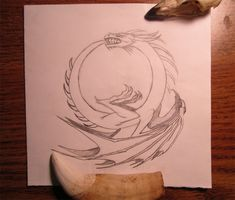 Ouroboros Dragon Tattoo Design