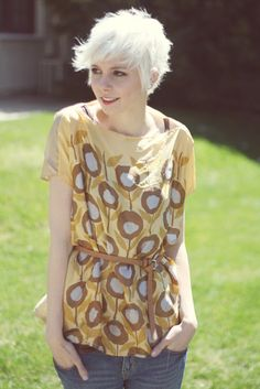 cute shirt made from 2 scarves