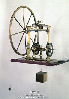 George Adams, instrument maker to the king, described this instrument as 'one of the simplest and most elegant compound engines I have ever seen'. It was he who made it. It combines three simple machines: two wheels and axles and a screw. The load was suspended from the axle at the base and hung through the centre of the frame. It was lifted by a 'power' on the large spoked wheel. In theory a weight 6000 times that of the applied force or 'power'.