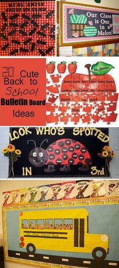Cute Back to School Bulletin Board Ideas!