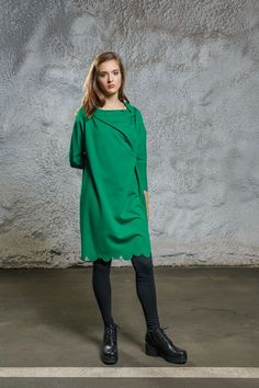 Scallop Dress green via Diba se Diva. Click on the image to see more!