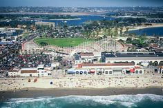 San Diego's Mission Beach Belmont Park is a beach amusement park reminiscent of traditional thrill parks that Americans enjoyed in the early 1900s. Filled