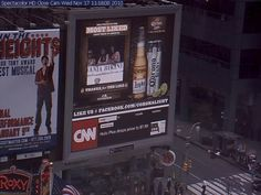 Members of PA Bikini Team on huge monitor at Times Square, NYC