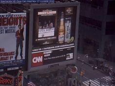 Members of PA Bikini Team on huge monitor at Times Square, NYC