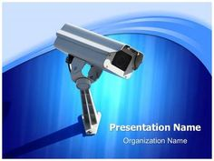 security camera powerpoint template is one of the best powerpoint, Modern powerpoint