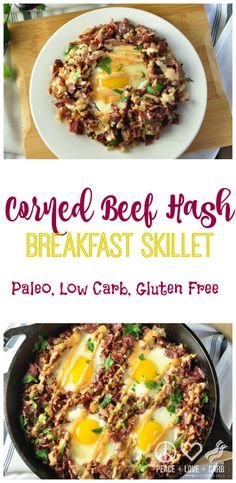 Beef Hash Breakfast Skillet - Paleo, Low Carb Corned Beef Hash Breakfast Skillet with Russian Dressing - Paleo, Low Carb and Gluten Free Low Carb Chicken Recipes, No Carb Recipes, Healthy Low Carb Recipes, Real Food Recipes, Diet Recipes, Protein Recipes, Breakfast Hash, Paleo Breakfast, Breakfast Skillet