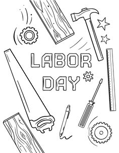 Printable Labor Day Coloring Page Free PDF Download At Coloringcafe