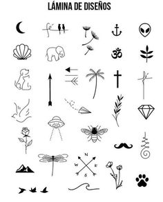 Absolutely fantastic free minimalist Tattoo Tips, - - With very little ink and simple strokes and thin, minimalist tattoos have durante stern wind lately. Far from the big tattoos taking a body part, these small tattoos are . Mini Tattoos, Little Tattoos, Body Art Tattoos, Small Tattoos, Tatoos, Tattoos For Women Small, Small Tattoo Symbols, Ankle Tattoos, Kritzelei Tattoo