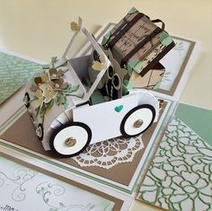 Here you can hide the money note for the wedding. Stampin Up, Tarjetas Pop Up, Exploding Box Card, Paper Crafts Origami, Wedding Boxes, Pop Up Cards, Craft Gifts, Mini Albums, Cardmaking
