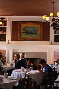 Blue Pig Tavern, Congress Hall, Cape May, NJ. Fireplace