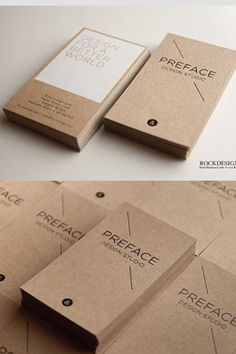 Brown Kraft Business Cards | RockDesign