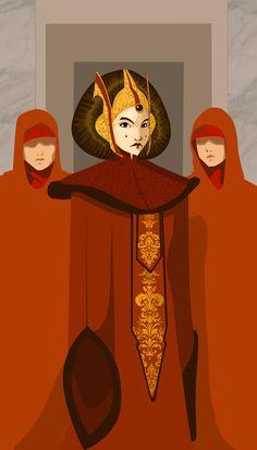 Queen Amidala /by msFlyingMonkey #StarWars #art