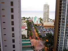 Waikiki in miniature by kanjigirl, via Flickr - http://www.flickr.com/photos/kanjigirl/7327462348/in/set-72157630027188568/