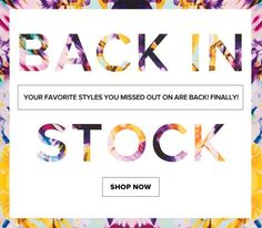 Back In Stock Email Design | Revolve Clothing: