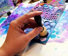 Smart! Three Ways to Use a Mask on One Piece of Mixed-Media Art, by Dina Wakley at ClothPaperScissors.com. #mixedmedialove #artjournal #color