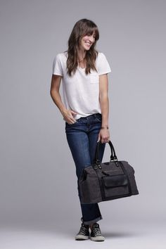 The Jude - Canvas + Leather Duffel Kelly Moore Bag, Waxed Canvas, Photography Equipment, Black Trim, Normcore, Larger, Santa, Bags, Ship