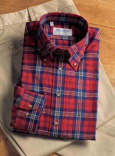 One of our wonderful brushed cotton button down shirts this season, suited to weekend pleasures, in red, blue, and yellow plaid. Cotton Shirts For Men, Flannel Shirts, Flannels, Winter Fashion, Men's Fashion, Mens Fall, Werewolves, Check Shirt, Blue Plaid