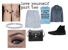 """""""love yourself part two"""" by docmartenslovah ❤ liked on Polyvore featuring Topshop, River Island, Converse and Balenciaga"""
