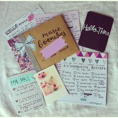 Outgoing happy mail and mail tag @jacintapaperheart
