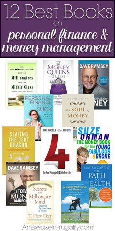 12 Best Books on Personal Finance and Money Management - Perfect books for anyone who needs to learn a little more about budgeting (like me!) An Exercise In Frugality finance tips financial planning Money Management Books, Management Tips, Financial Literacy, Financial Tips, Financial Planning, Financial Peace, Budgeting Finances, Budgeting Tips, Mon Budget