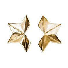 Gillian Steinhardt Jewelry: Origami Earring from the Origami Collection -- www.gilliansteinhardtjewelry.com