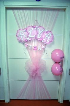 baby shower decorations | Newborn, Baby Door Ornament, Baby Shower, Nursery Decor, Baby Room ...