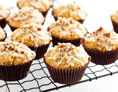 Try these oh-so-good gluten-free Banana, Carrot & Pecan Muffins topped with a deliciously sweet orange icing.