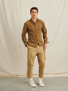 Field Shirt in Fine Wale Corduroy – Alex Mill Yellow Clothes, Jeans Fit, Jumpsuits For Women, New Outfits, Shirt Outfit, Corduroy, Khaki Pants, Man Shop, Mens Fashion