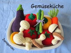 Vegetables Crochet Pattern Amigurumi PDF