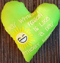 Hier mein 140. Herz für Euch: A Day without Fusion is like a day without sunshine