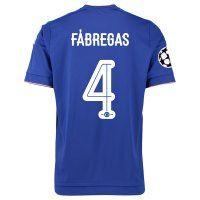 Chelsea FC 2015-16 Season UCL FABREGAS #4 Home Soccer Jersey [C367]