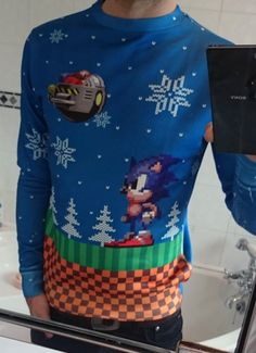 Sonic (Ugly Christmas Sweater!) | Video Game Ugly Sweaters ...