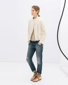 Image 2 of JACKET WITH ZIPS from Zara