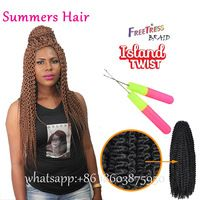 Freetress Premium Synthetic Hair Braid Crochet Island Twist 22inch Shake N Gogo Stress Free Curls Fretress Bohemian Island Twist