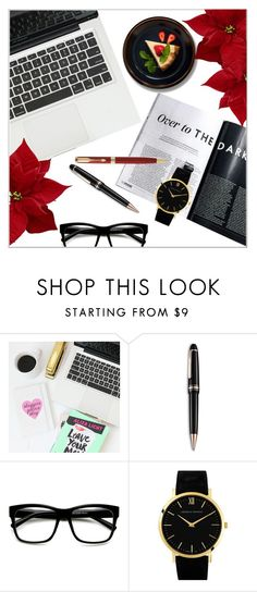 """""""Fashion Blogger Desk"""" by deeyanago ❤ liked on Polyvore featuring interior, interiors, interior design, home, home decor, interior decorating, Montblanc, Retrò, Larsson & Jennings and Parker"""