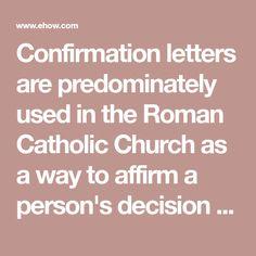 16 Best Confirmation letter images in 2017   Confirmation letter
