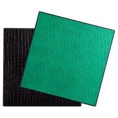 Faux ostrich leather placemat