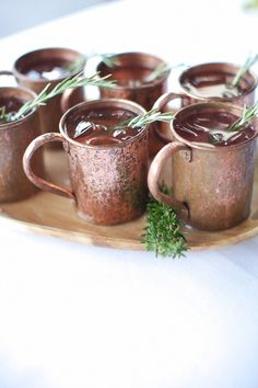 Classic Moscow Mule drinks are always a hit at parties... especially on a hot, summer day.  :)