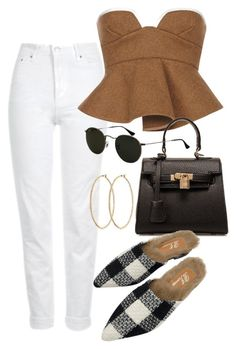 """""""Sunny day out"""" by camilae97 ❤ liked on Polyvore featuring Topshop, Marni, Ray-Ban and Henri Bendel"""