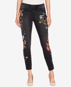 WILLIAM RAST Perfect Embroidered Ankle Skinny Jeans | macys.com