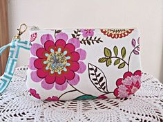 Colorful new wristlet added to my Etsy shop