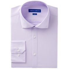 Vince Camuto Men's Slim-Fit Comfort Stretch Solid Dress Shirt (795 MXN) ❤ liked on Polyvore featuring men's fashion, men's clothing, men's shirts, men's dress shirts, lilac, mens stretch dress shirt, mens slim fit dress shirts, mens dress shirts, mens slim fit shirts and mens stretch shirts