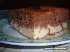 Šťavnatá tvarohová buchta | NejRecept.cz Sweet Cakes, Kefir, Sweet Recipes, Tiramisu, Brownies, French Toast, Cheesecake, Pudding, Baking