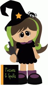 Silhouette Design Store - View Design #65788: witch w potion book halloween