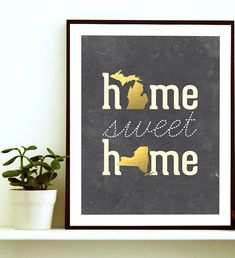 Celebrate your love and your hometowns with this wonderful two state art print. Home is always so much sweeter when we are with the ones we love. Could be a great housewarming gift, moving away gift, moving in together, wedding gift, anniversary present, or anytime gift for you significant other, or for any newlyweds you may know ! This print is a beautiful addition to any home! Please leave us your choice of states at checkout…