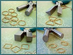 Wubbers Mandrel Pliers are perfect for forming handmade wire jewelry components.