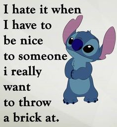 Funny quotes disney _ lustige zitate disney _ citations drôles disney _ frases divertidas disney _ funny quotes about life, funny quotes for teens, funny quotes about relationships, funny quotes for women, funny quotes laughing so ha Disney Stitch, Lilo Stitch, Lelo And Stitch, Cute Stitch, Funny True Quotes, Funny Relatable Memes, Cute Quotes, Funny Texts, Funny Disney Jokes