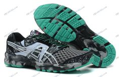 Asics Gel Noosa Tri 8 Gray/Green Mens Running Shoes