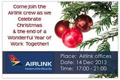 INVITATION DESIGN - Corporate E-Invitation for Christmas - Airlink